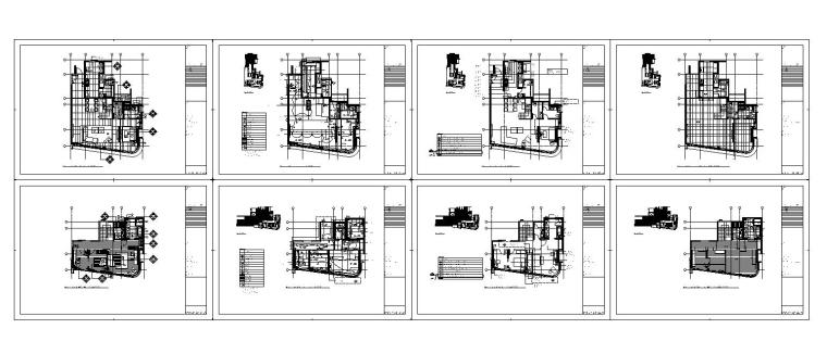 [香港]现代轻奢风格复式楼层装修全套施工图(附效果图)_12