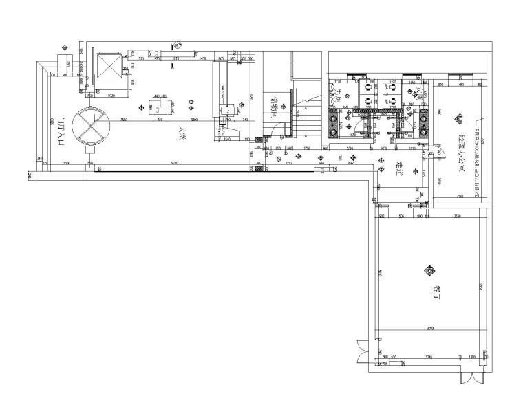 [山东]新中式风格大型酒店内部餐厅装修施工图