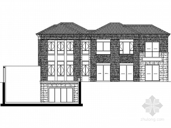 [江苏]某小区二层双拼新古典风格别墅建筑施工图