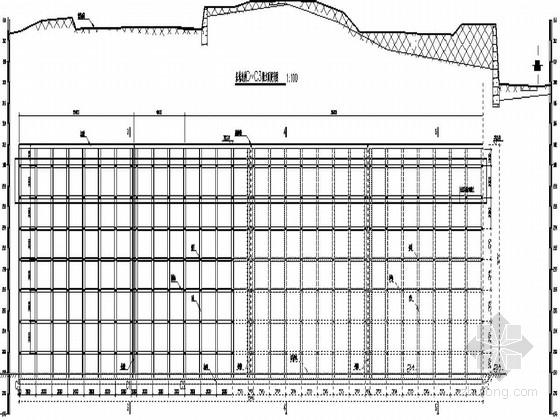 某基坑边坡格构式锚杆挡土墙肋柱支护结构设计图