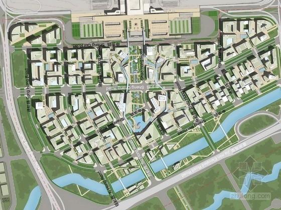 [上海]低碳年轻化城市滨水商业休闲带景观规划设计方案