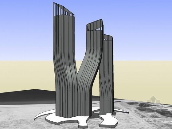 时尚商业建筑SketchUp模型下载