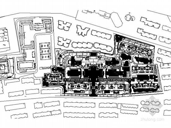 [杭州]尊贵诗意雍容住宅区景观规划施工图