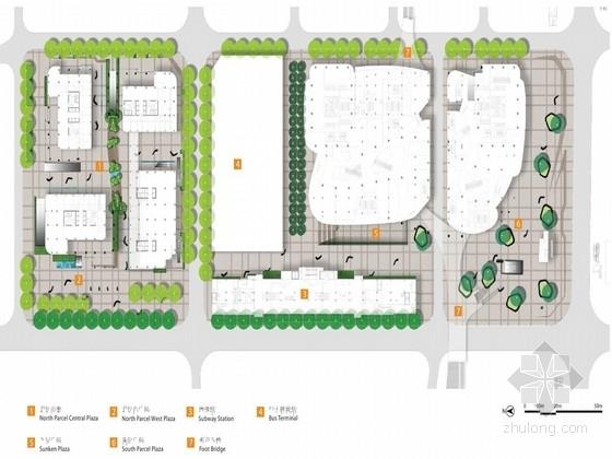 [深圳]现代简约中心广场景观概念设计方案