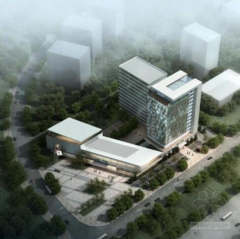 [重庆]现代化高层企业办公楼建筑设计方案文本(知名设计院设计)