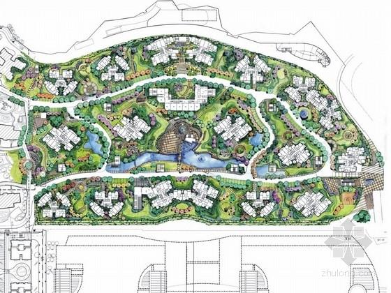 [重庆]滨江城市中心居住区景观规划设计方案