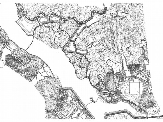 [廣東]山地生態濕地公園景觀規劃設計施工圖(知名設計單位)