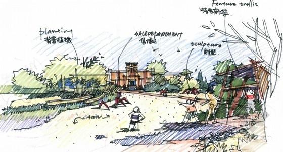 [合肥]贵族英伦高端山水别墅示范区设计方案-景观效果图