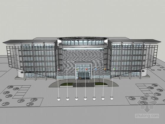 现代公司建筑SketchUp模型下载