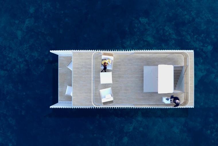 西班牙与大海融为一体的浮动别墅-3