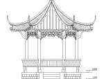 中国古建八角亭施工图
