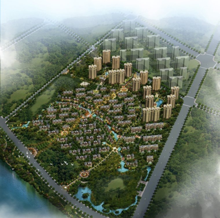 [北京]高层新古典主义塔式住宅及英式别墅(300多页PDF)_1