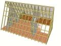 分享一个正在施工中的精品三角木结构木屋