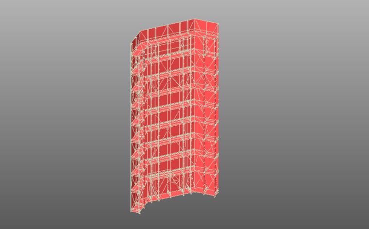 某复杂外立面工程整体式斜爬架结构受力计算书