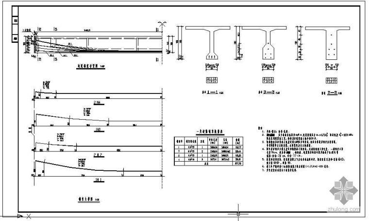 某25米T梁边梁预应力钢束节点构造详图