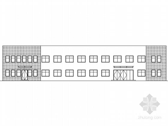 [广东]某二层钢结构办公楼施工图