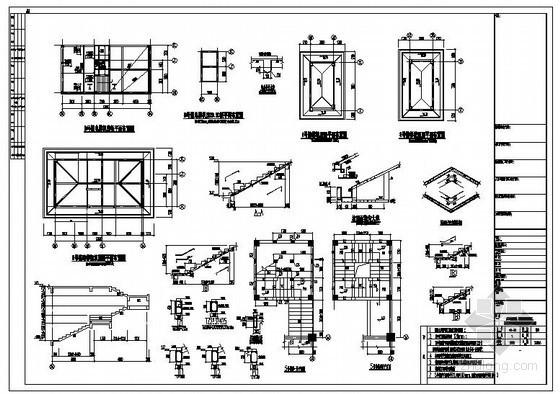 某住宅电梯机房及坡屋面节点构造详图