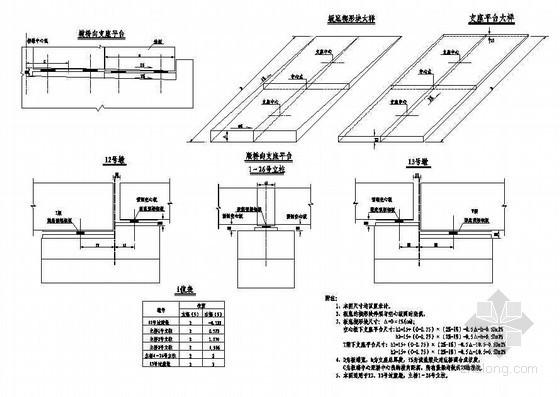 杭新景高速公路拱肋式大桥底楔形块大样及支座平台构造节点详图设计
