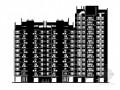 某十四层高层住宅建筑方案图(岭南风情)