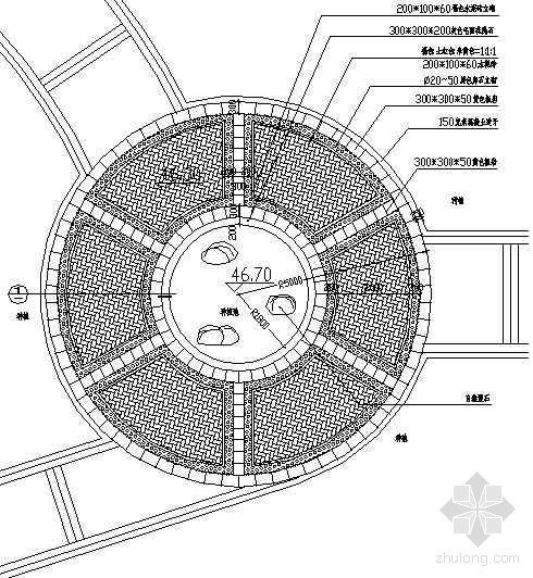 圆形广场铺装详图