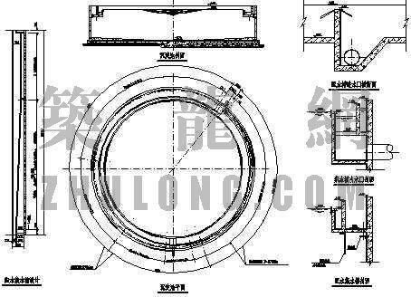 中心傳動單管吸泥機二沉池配水槽配水孔示意圖
