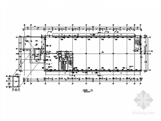 [湖北]物流港多层办公楼建筑施工图-多层不上人屋面办公楼建筑平面图