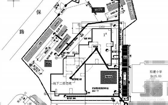 北京某工程现场临水平面布置图