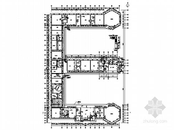 五层现代风格幼儿园平面图
