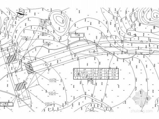 城市次干路道路设计计算书(附CAD图)