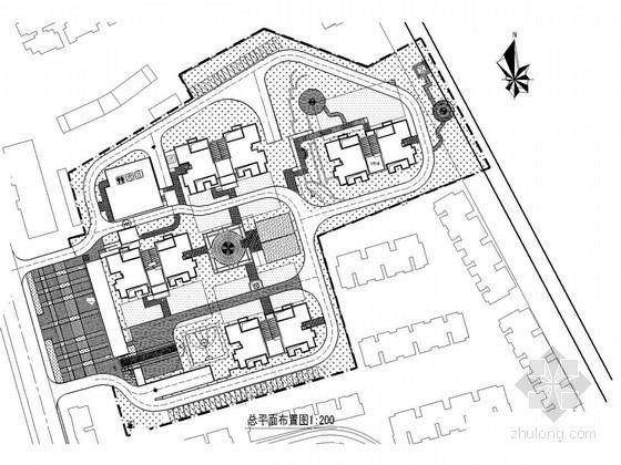 [重庆]高档小区景观工程施工图(附效果图、总平面图)