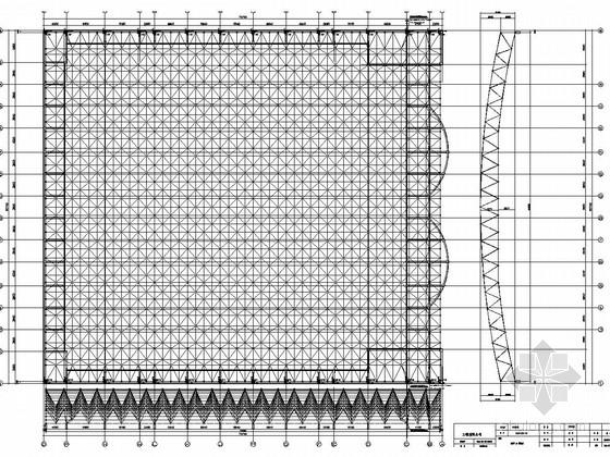 三层体育场钢网架结构竣工图