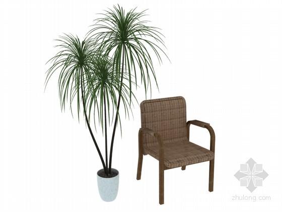 休闲椅子3D模型下载