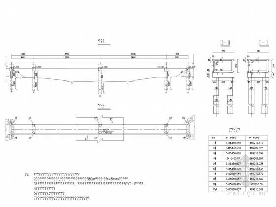 [湖北]8.5m+25m+8.5m钢筋混凝土箱槽施工图