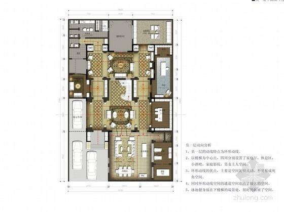 [北京]独栋欧式奢华双层别墅设计方案图