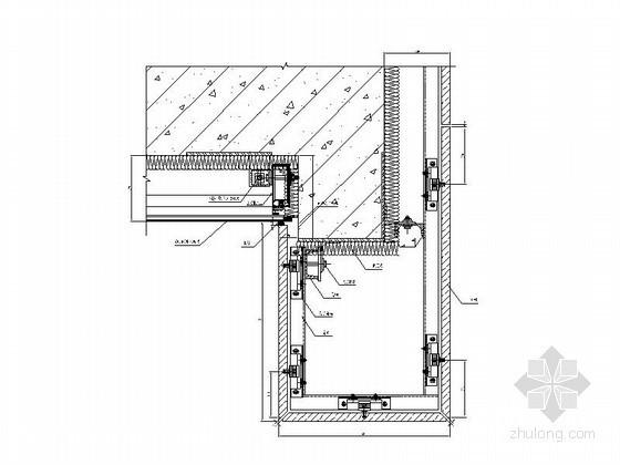 背栓式石材幕墙节点详图