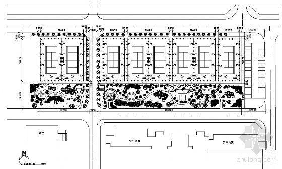 上海某大学网球场建筑方案图-3