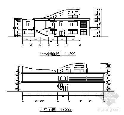 南方某高校大学生活动中心建筑方案图-2