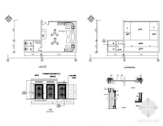 vip休息室平面图资料下载-影城VIP休息室详图