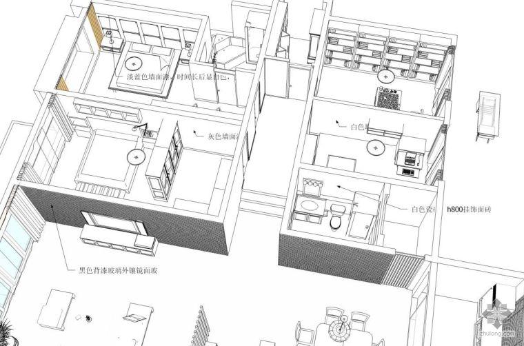 [烟台]简约四居装修设计图