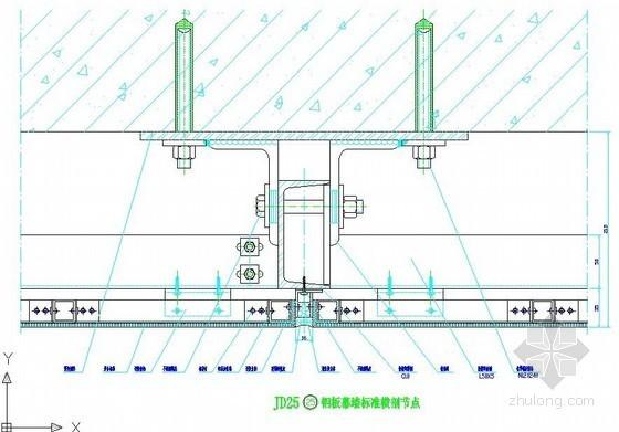 铝板幕墙节点构造图集(CAD格式 13个)