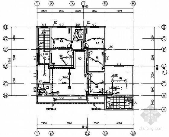 [湖南]两层简约式别墅电气施工图纸
