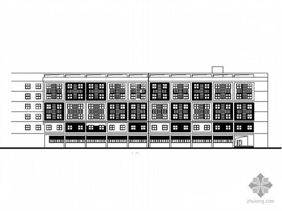 [温州]某体育运动学校六层宿舍楼建筑施工图