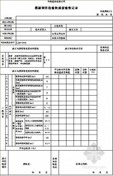 市政桥梁工程检验批质量验收记录
