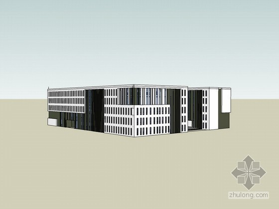 教学楼sketchup模型