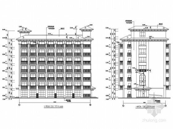 [浙江]七层框架结构教师学院员工宿舍楼结构施工图(含建筑图)