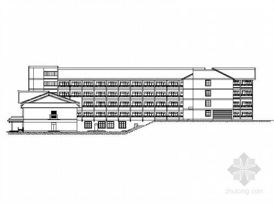 [贵阳]多层新中式社区综合服务中心建筑施工图