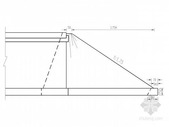 三跨预应力混凝土连续刚构桥U台锥坡设计图