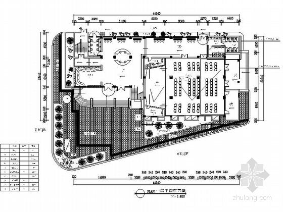 [重庆]现代青少年宫室内装修施工图(含效果)