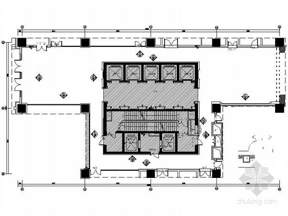 [昆山]五星商务酒店门厅室内设计施工图(含效果)