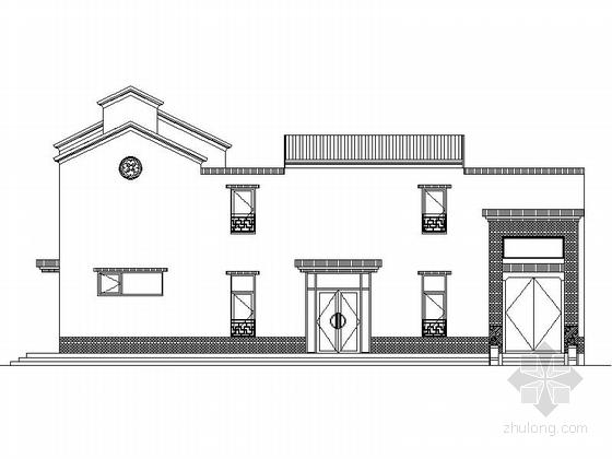 [河北]两层传统白墙黑瓦对称式四合院建筑设计施工图(含水暖电图纸)